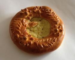 Пирог с каотофелем и луком